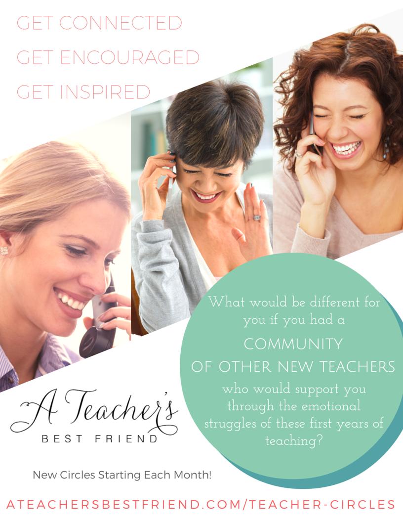 Teacher Circles- New Teacher Edition from A Teacher's Best Friend