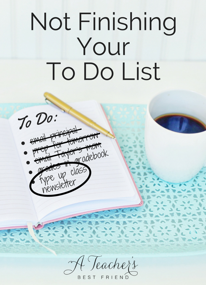 Notebook with To Do List and Cup of Coffee - Not Finishing Your To Do List - Blog Post from A Teacher's Best Friend