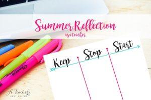 Summer Reflection as a Teacher